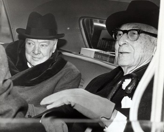 Уинстън Чърчил и Бернард Барух (и двамата са били ционисти)