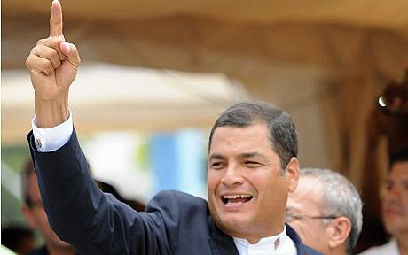 ECUADOR-ELECTIONS-CORREA-VICTORY