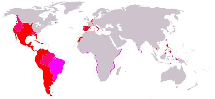 Испанската империя -  25 млн. Km²