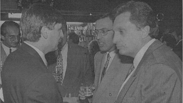 """Високопоставеният служител на Мултигруп Сашо Дончев беше VIP на купона """"Петър Стоянов"""". До тях - Иван Костов"""