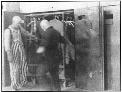 Дезинфекция на дрехи в Биркенау (Аушвитц 2)