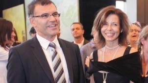 Симеон Дянков, човек на Световната банка и говорител на конференции на Институт Отворено общество. До него Цветелина Бориславова.