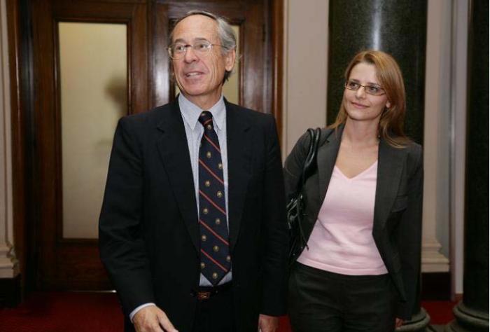 Светла Костадинова и Хосе Пинера, бивш министър в правителството на диктатора Аугусто Пиночет.