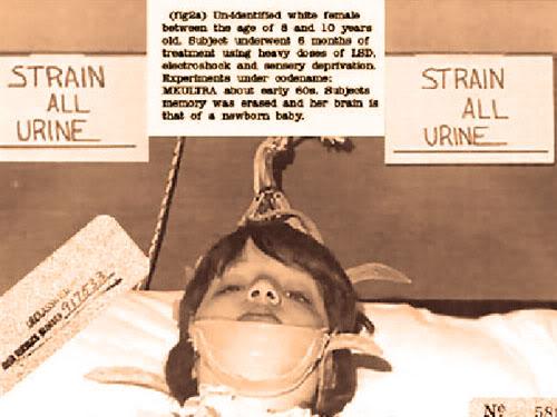 Разсекретена снимка на млад обект на MK-ULTRA, 1961 г.