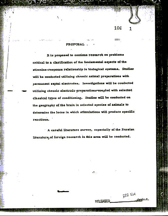 Разсекретен документ MKUltra