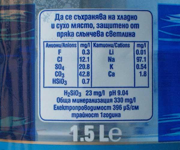 """Минерална вода """"Преподобна Стойна"""" с ниско съдържание на флуор 0,3 мг/л. Снимки: авторката"""