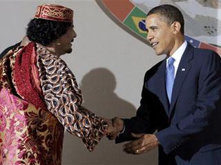 Barack Obama, Moammar Gadhafi