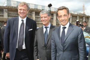 Бившият президент на Франция, Никола Саркози с Джулиан Апонте