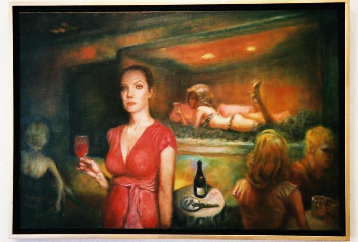 Жена в кутия, на Рики Нелсън, в галерията на Саатчи.
