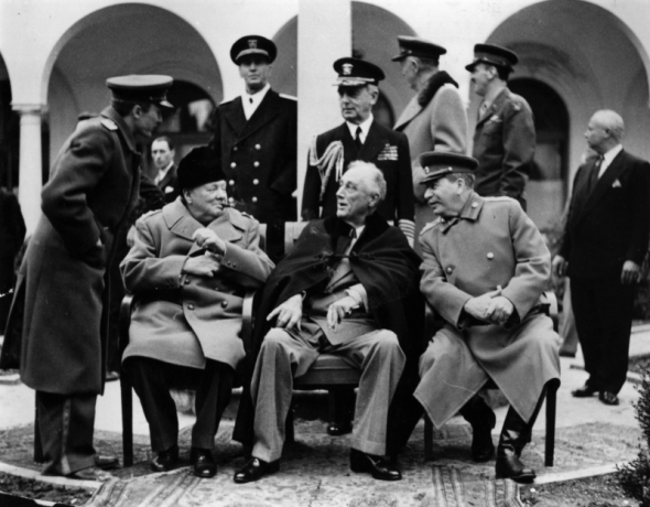 Ялтенската конференция. Чърчил, Рузвелт и СТалин
