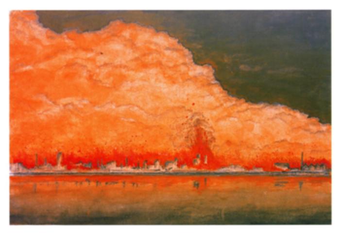 Картина на Катсуми Хидесабуро, бил е на 16 по време на атаката