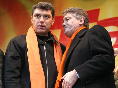 Борис Немцов и Ющченко на Оранжевата революция