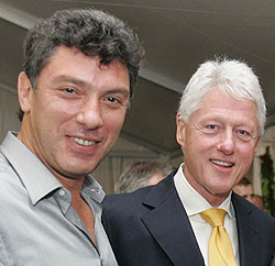 Немцов и Клинтън