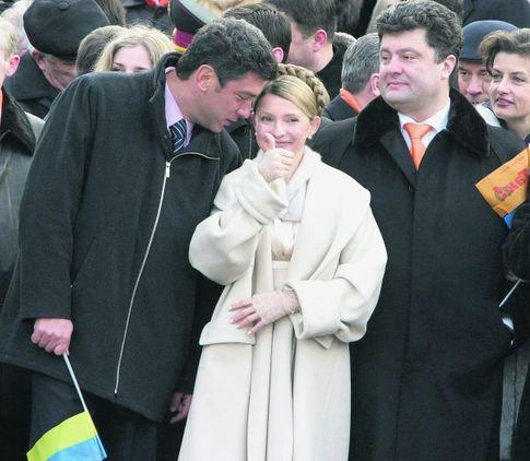 Борис Немцов, Юлия Тимошенко и Петро Порошенко