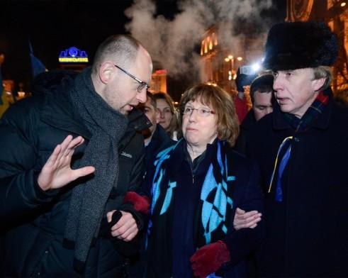 Катрин Аштън на Евромайдана в Киев
