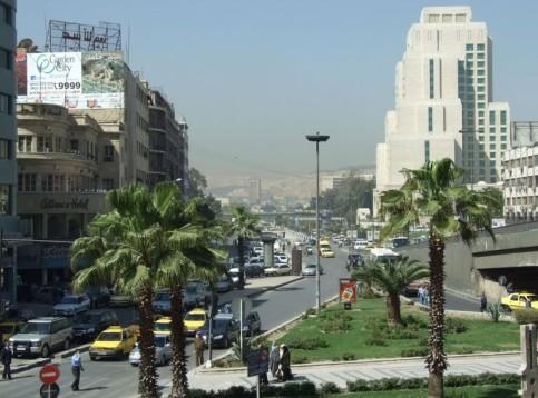 Град Дамаск преди войната.