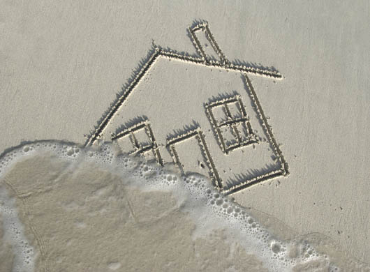House in the sand
