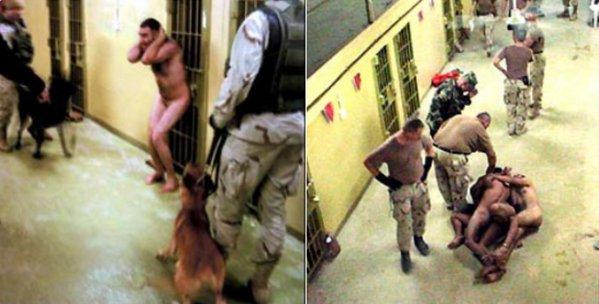 Американски военни служители се гаврят със заловени от тях в конфликтни зони хора.