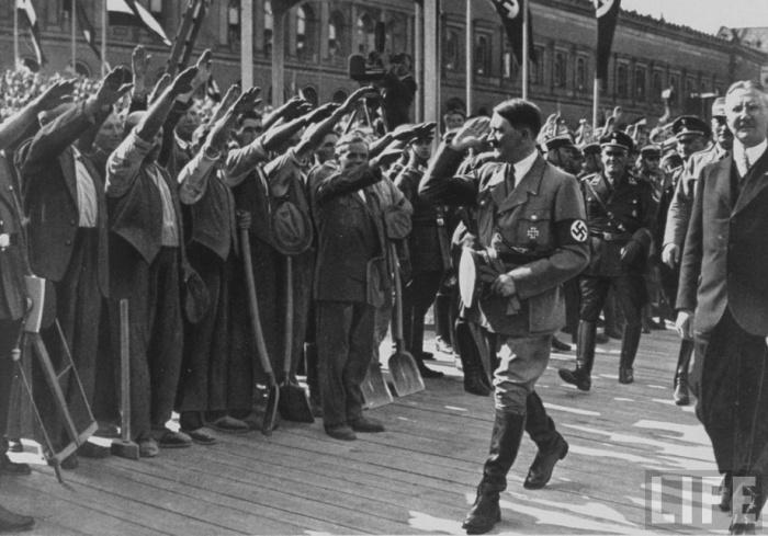 На откриването на новия клон на Reichsbank. Май 1932.