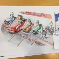 ЕС отхвърля 12 карикатури на гръцки артист в брюкселска изложба